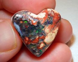 Heart Mexican Cantera Opal