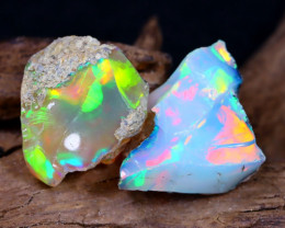15.89Ct Bright Color Natural Ethiopian Welo Opal Rough DT0184