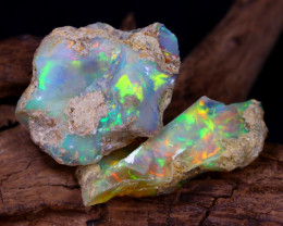 30.21Ct Bright Color Natural Ethiopian Welo Opal Rough DT0187