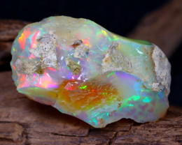 36.03Ct Bright Color Natural Ethiopian Welo Opal Rough DT0189