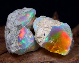 24.29Ct Bright Color Natural Ethiopian Welo Opal Rough DT0190