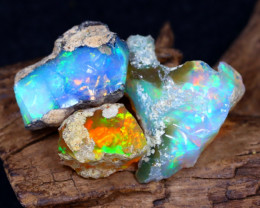 28.07Ct Bright Color Natural Ethiopian Welo Opal Rough DT0196