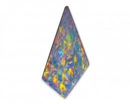 7.04 ct Certified Mintabie Multicolor Opal