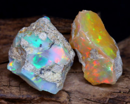 31.84Ct Bright Color Natural Ethiopian Welo Opal Rough DT0201