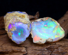 37.07Ct Bright Color Natural Ethiopian Welo Opal Rough DT0205