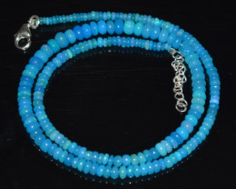 ETHIOPIAN OPAL BEADS NECKLACE BEADS STERLING SILVER OBJ-183