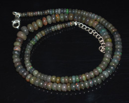 ETHIOPIAN OPAL BEADS NECKLACE BEADS STERLING SILVER OBJ-185