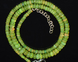 ETHIOPIAN OPAL BEADS NECKLACE BEADS STERLING SILVER OBJ-189