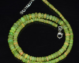 ETHIOPIAN OPAL BEADS NECKLACE BEADS STERLING SILVER OBJ-194