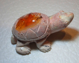 Mexican Carving Figurine Fire Opal