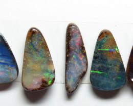 8.76ct Queensland Boulder Opal 5 Stone Parcel