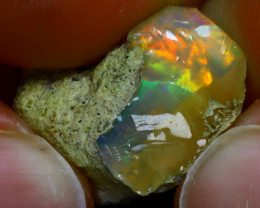 11.62Ct Multi Color Play Ethiopian Welo Opal Rough J1004/R2