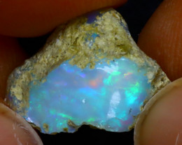 5.68Ct Multi Color Play Ethiopian Welo Opal Rough J1021/R2