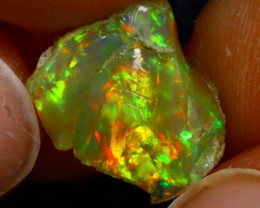 4.30Ct Multi Color Play Ethiopian Welo Opal Rough J1026/R2