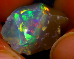 7.90Ct Multi Color Play Ethiopian Welo Opal Rough J1102/R2