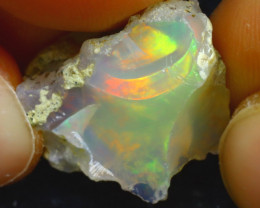 12.73Ct Multi Color Play Ethiopian Welo Opal Rough JN221/R2