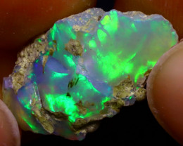 6.46Ct Multi Color Play Ethiopian Welo Opal Rough J1119/R2