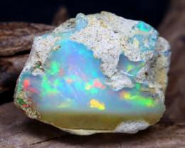 10.88Ct Bright Color Natural Ethiopian Welo Opal Rough DT0212