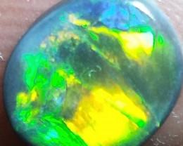 0.80Cts Natural Lightning Ridge Black Opal Stone MTY-724