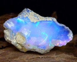 9.59Ct Bright Color Natural Ethiopian Welo Opal Rough DT0227