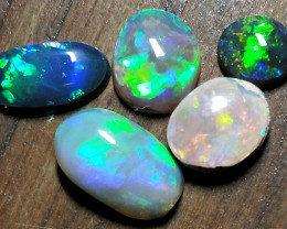 3.13Cts Black Opal Oplal And Crystal Stones MTY-725