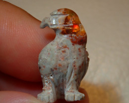 Eagle Mexican Carving Figurine Fire Opal