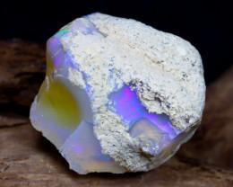 Welo Rough 26.31Ct Natural Ethiopian Play Of Color Rough Opal E0903