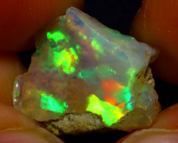 5.51Ct Multi Color Play Ethiopian Welo Opal Rough J1202/R2