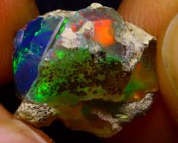 6.20Ct Multi Color Play Ethiopian Welo Opal Rough J1222/R2