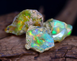 Welo Rough 27.95Ct Natural Ethiopian Play Of Color Rough Opal F1001