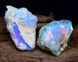 Welo Rough 20.89Ct Natural Ethiopian Play Of Color Rough Opal F1005