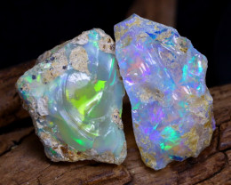 Welo Rough 29.51Ct Natural Ethiopian Play Of Color Rough Opal D1002