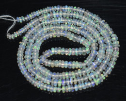 17.30 Ct Natural Ethiopian Welo Opal Beads Play Of Color OB1095