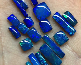 9.8cts blue-green  rectangular and square doublets