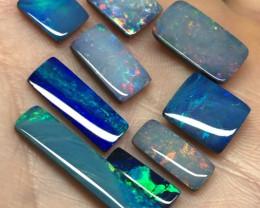 19.7cts Rectangular Australian opal doublets