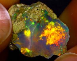 6.47Ct Multi Color Play Ethiopian Welo Opal Rough J1302/R2
