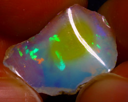 6.22Ct Multi Color Play Ethiopian Welo Opal Rough J1314/R2