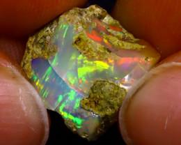 7.19Ct Multi Color Play Ethiopian Welo Opal Rough J1315/R2