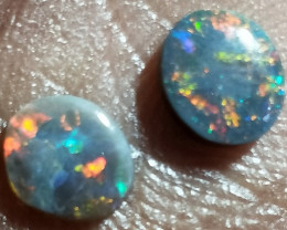 1.05cts Black Opal Red Pair MTY-729