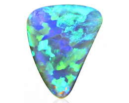 3.95 ct Flagstone Crystal Opal from Lightning Ridge - Australia