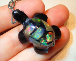 Mexican Fire Opal Inlaid