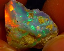6.77Ct Multi Color Play Ethiopian Welo Opal Rough J1408/R2