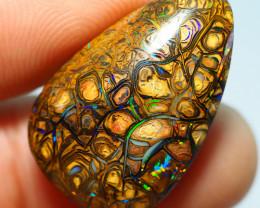 17.55CTS  YOWAH OPAL WITH AMAZING PATTERN  BJ310