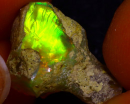 7.10Ct Multi Color Play Ethiopian Welo Opal Rough J1522/R2