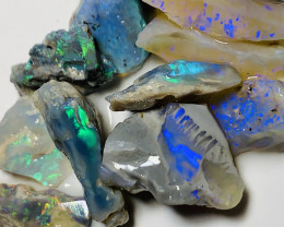 ROUGH TO CUT- LOVELY BRIGHT ROUGH OPALS WITH CUTTERS #1082