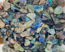 350 Cts Multicolour bright Dark Nobby Opals - Great Potential, Nice Cutters