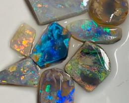 Multicolour Clean Pre-Shaped Opal Rubs - 16Cts