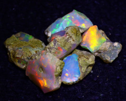 25.40Ct Multi Color Play Ethiopian Welo Opal Rough J1606/R2