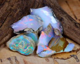 Welo Rough 20.68Ct Natural Ethiopian Play Of Color Rough Opal D1302