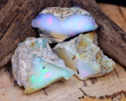 Welo Rough 27.71Ct Natural Ethiopian Play Of Color Rough Opal D1303